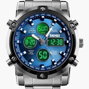 Men's Watch Military Business Analog Digital LED